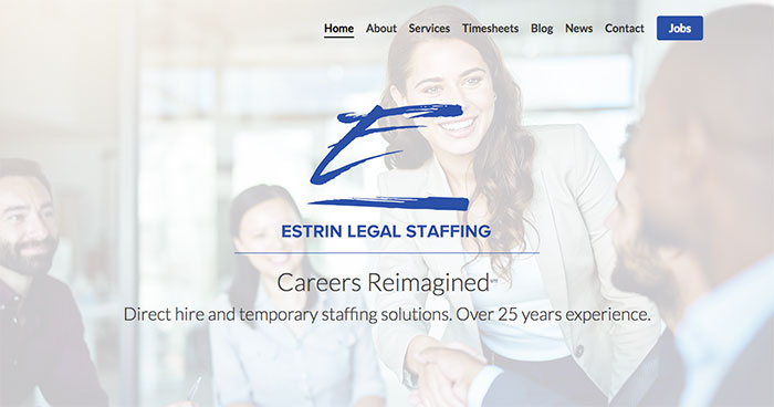 Estrin Legal Staffing launches a new website!